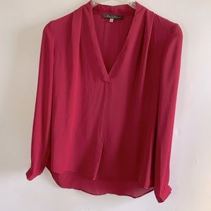 SMALL ROSE & OLIVE BLOUSE SHIRT CAREER WORK TOP